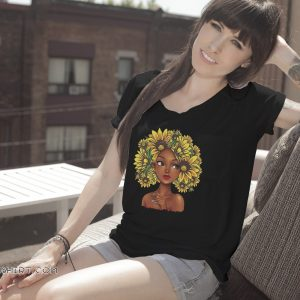 Sunflower natural hair for black girl shirt