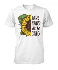 Sunflower tats naps and cats unisex cotton tee
