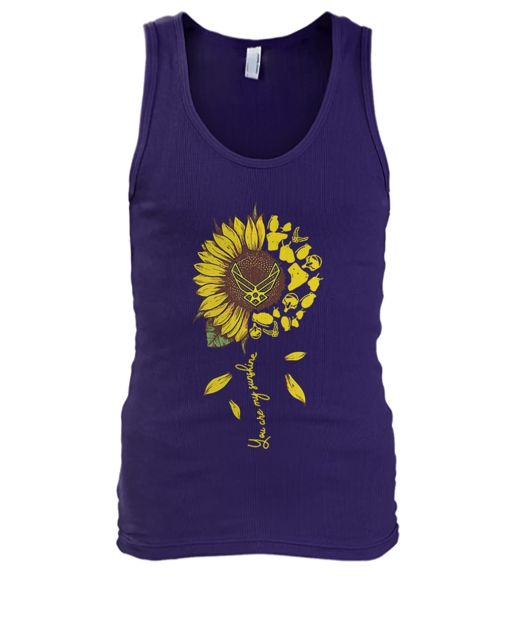 Sunflower you are my sunshine US air force men's tank top