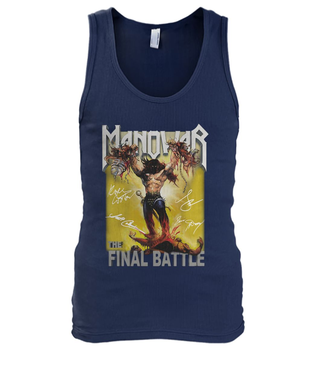 The manowar final battle world tour men's tank top
