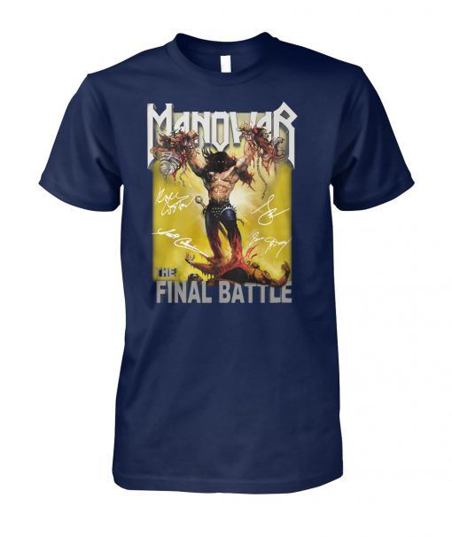 The manowar final battle world tour unisex cotton tee