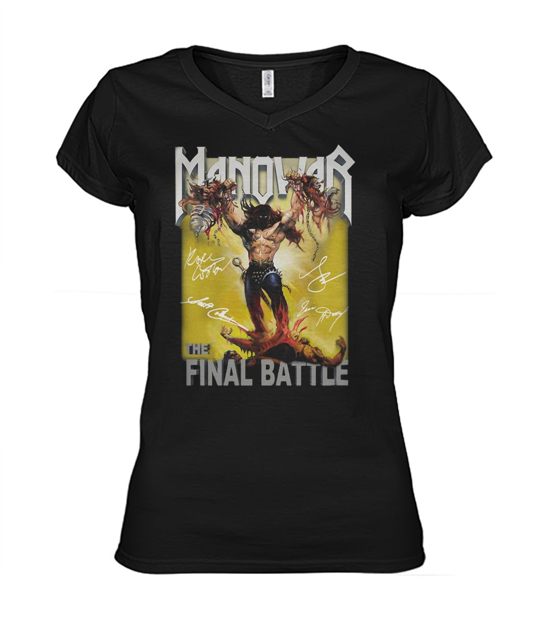 The manowar final battle world tour women's v-neck