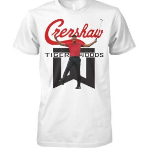 Tiger woods crenshaw golf unisex cotton tee