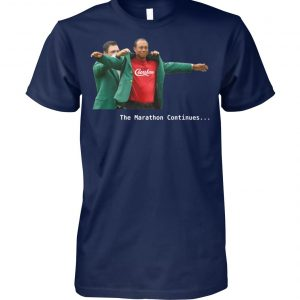 Tiger woods crenshaw the marathon continues unisex cotton tee