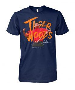Tiger woods hello world signature unisex cotton tee