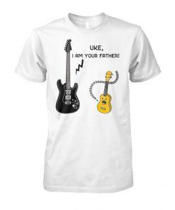 Ukulele and guitar uke I am your father unisex cotton tee