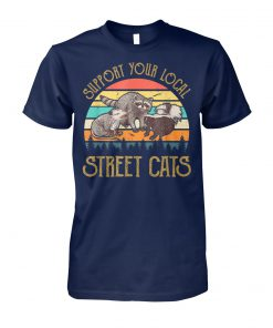 Vintage support your local street cats unisex cotton tee