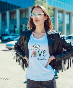 Womens love mimi life art flower shirt