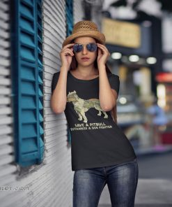 World map save a pitbull euthanize a dog fighter shirt