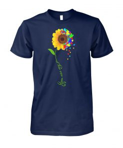You are my sunshine sunflower autism awareness unisex cotton tee