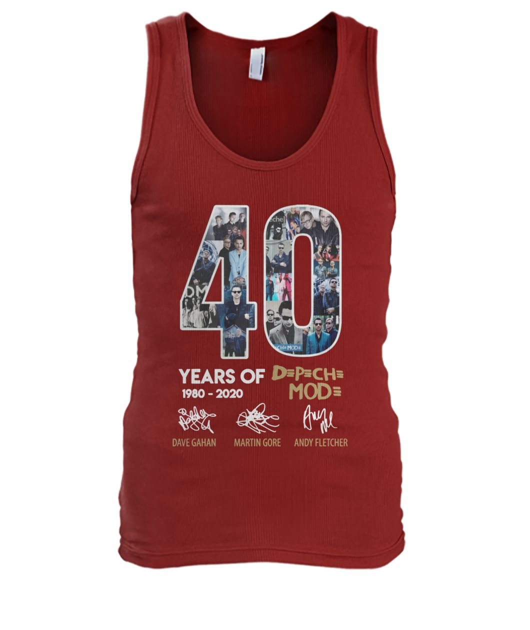 40 years of depeche mode 1980-2020 thank you for the memories signature men's tank top