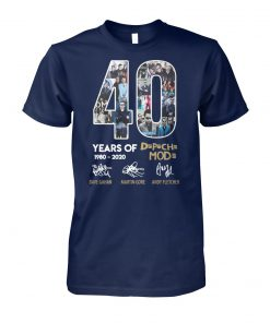 40 years of depeche mode 1980-2020 thank you for the memories signature unisex cotton tee