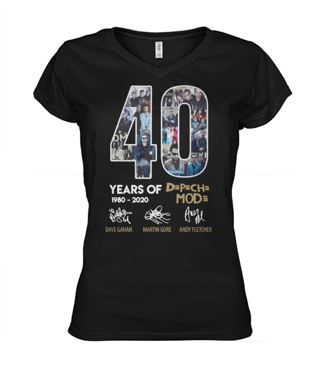 40 years of depeche mode 1980-2020 thank you for the memories signature women's v-neck