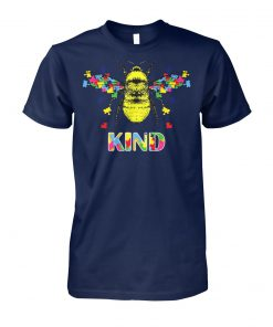 Autism awareness bee kind puzzle pieces unisex cotton tee