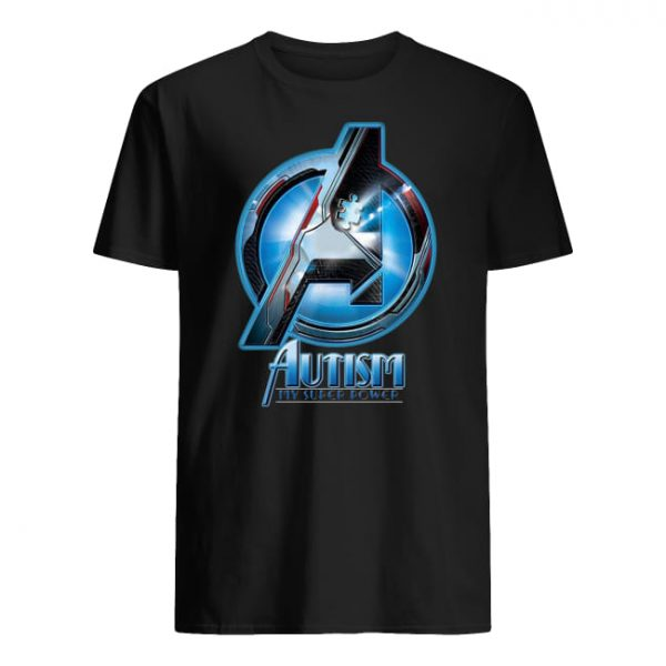 Avengers autism awareness my super power guy shirt