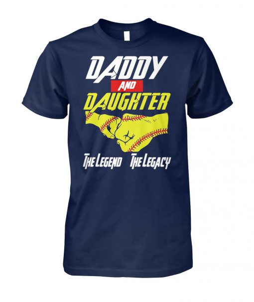Baseball daddy and daughter the legend and the legacy marvel avengers unisex cotton tee