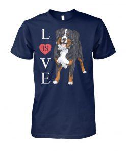 Bernese mountain dog is love unisex cotton tee