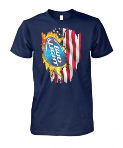 Bud light american flag unisex cotton tee