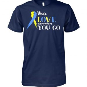 Cancer awareness wear love everywhere you go unisex cotton tee