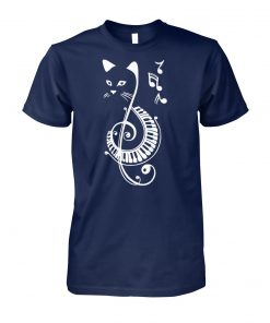 Cat treble clef love music unisex cotton tee