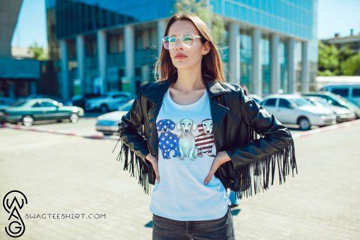Dachshunds american flag shirt