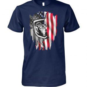 Dodge ram american flag unisex cotton tee