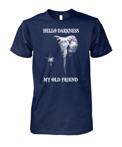 Elephants hello darkness my old friend unisex cotton tee
