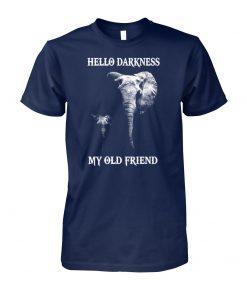 Elephants hello darkness my old friend unisex cotton tee