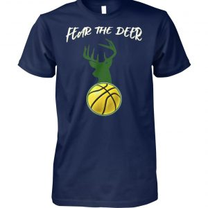Fear the deer basketball unisex cotton tee