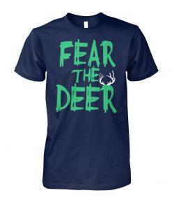Fear the deer milwaukee basketball bucks unisex cotton tee