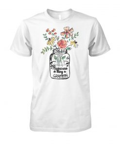 Flower happiness is being grammy life unisex cotton tee
