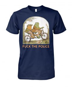 Frog and toad fuck the police unisex cotton tee