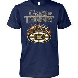 Game of thrones crown boston bruins unisex cotton tee