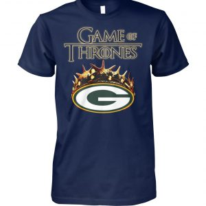 Game of thrones crown green bay packers unisex cotton tee