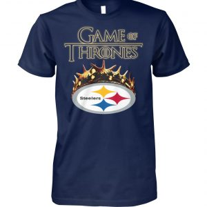 Game of thrones crown pittsburgh steelers unisex cotton tee