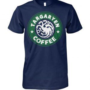 Game of thrones khaleesi targaryen dragons starbucks coffee unisex cotton tee