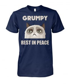 Grumpy cat rest in peace unisex cotton tee
