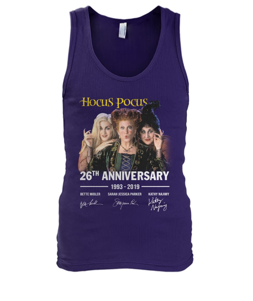 Hocus pocus 26th anniversary 1993 2019 signature men's tank top