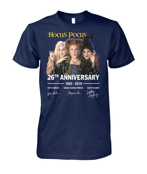 Hocus pocus 26th anniversary 1993 2019 signature unisex cotton tee
