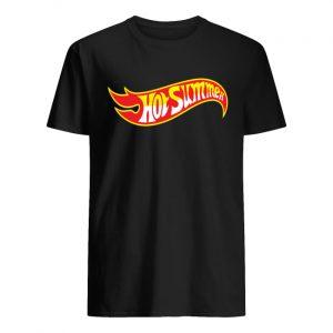Hot wheels toy cars logo guy shirt