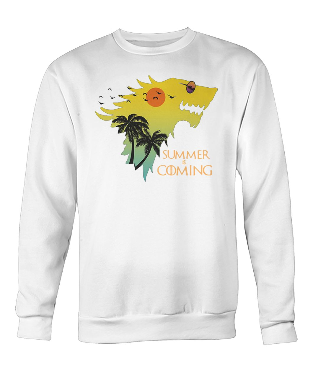 House stark summer is coming game of thrones crew neck sweatshirt
