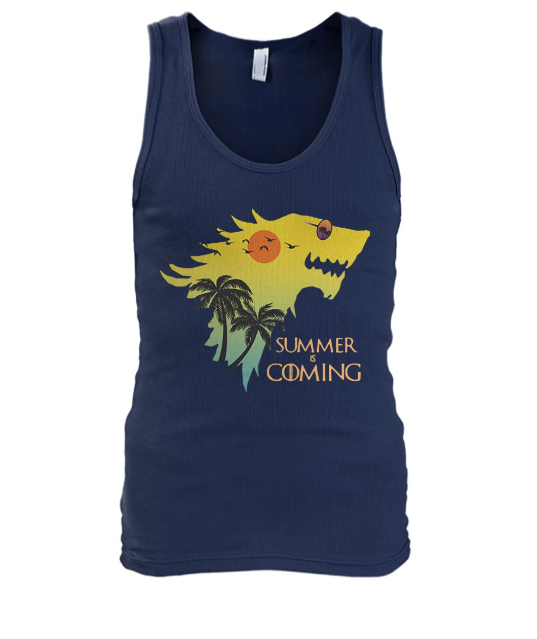 House stark summer is coming game of thrones men's tank top