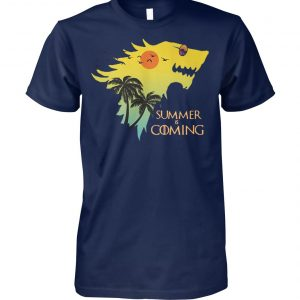 House stark summer is coming game of thrones unisex cotton tee