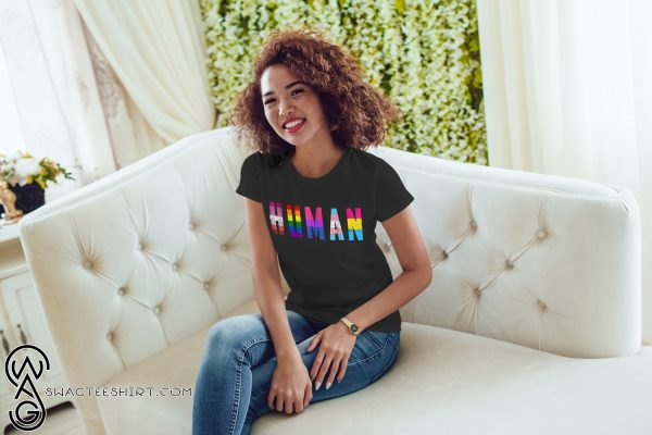 Human flag LGBT gay pride month transgender shirt