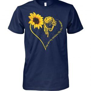 Jesus you are my sunshine hippie sunflower unisex cotton tee