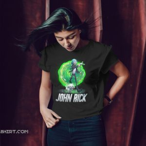 John rick john wick mixed rick and morty shirt