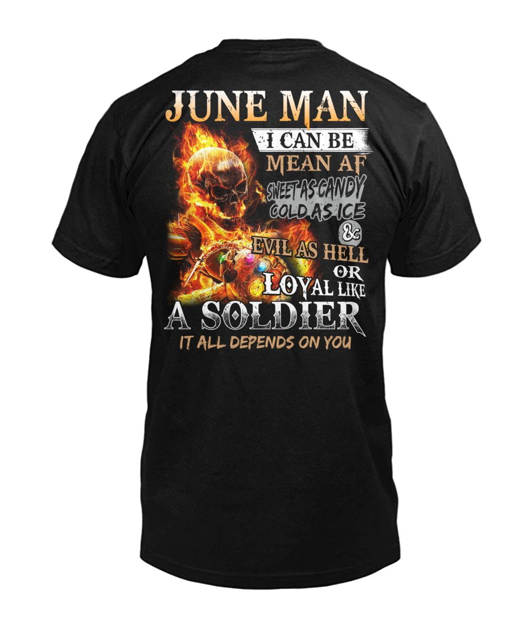 June man I can be mean af sweet as candy gold as ice and evil as hell mens v-neck