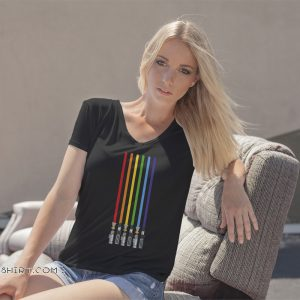 LGBT flag light swords light saber love gay pride shirt