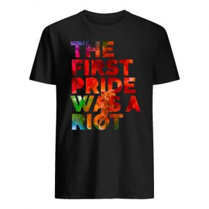 LGBT pride the first gay pride was a riot guy shirt