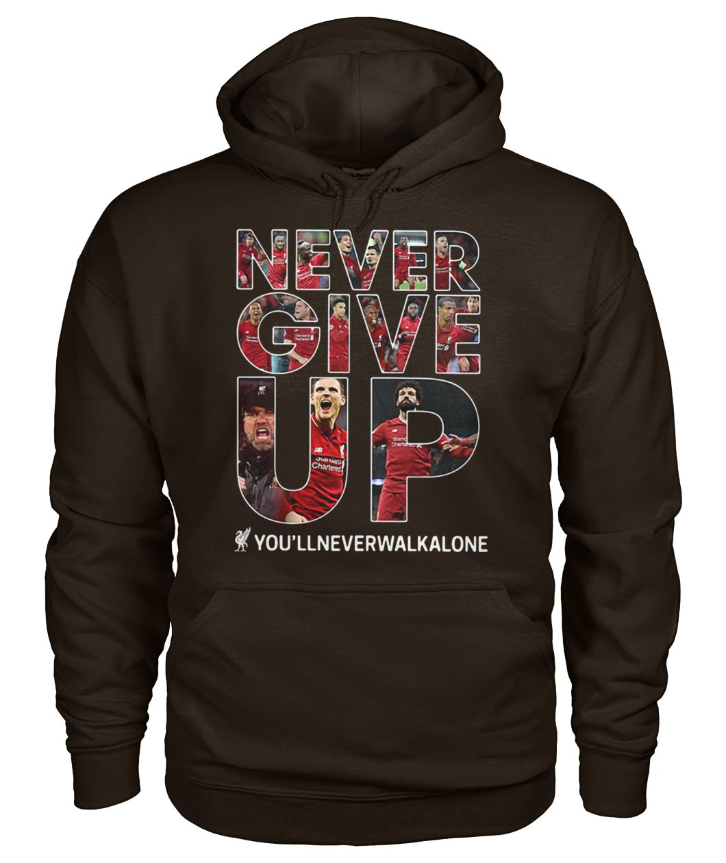 Liverpool never give up you'llneverwalkalone gildan hoodie